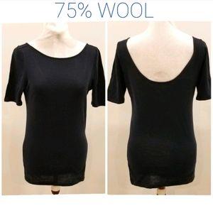 ⭐2/$30⭐Club Monaco Wool Jersey Top sz L
